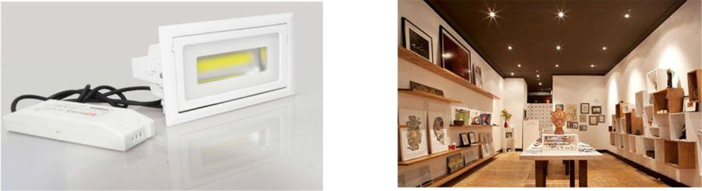 40 Watt LED Downlight - Shop Fitter