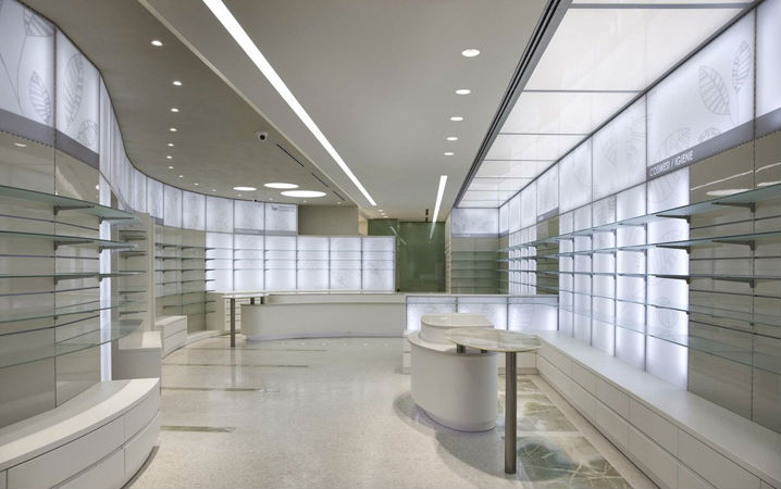 LED Downlights in shopping centre