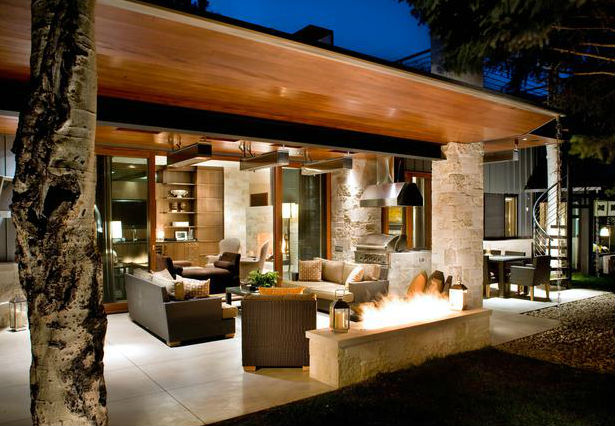 LED Lighting in Outdoor Area