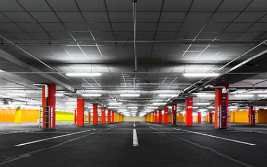 LED Slimline Surface Mount Batten Lights - Undercover Carpark