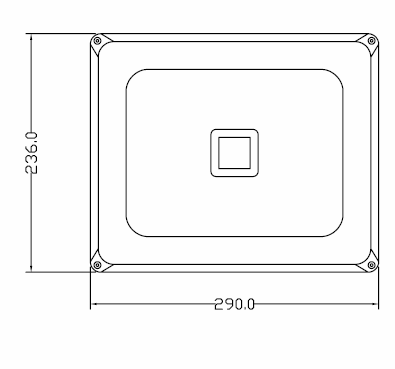 50 Watt LED Floodlight Dimensions 2