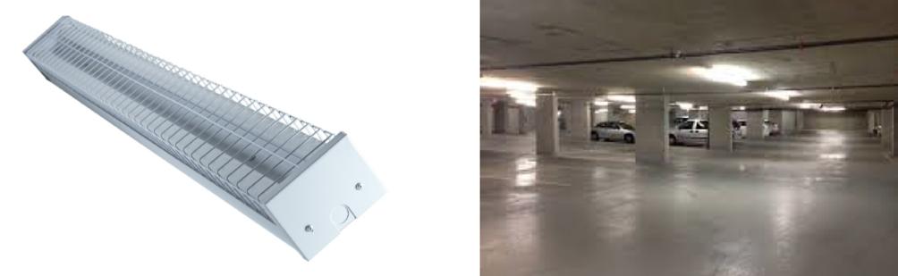 LED T8 Double Bare Batten Fitting 1200mm