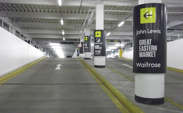 LED Weatherproof Batten Lights in Carpark