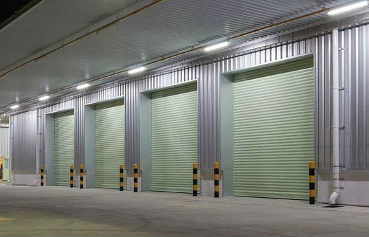 LED Weatherproof Batten Lights on Warehouse Factory