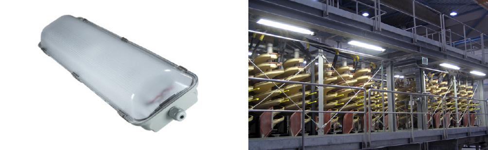 2 x 25 Watt LED Weatherproof Batten 1500mm with Sensor