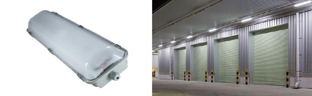 1 x 12 Watt LED Weatherproof Batten 1200mm with Optional Sensor