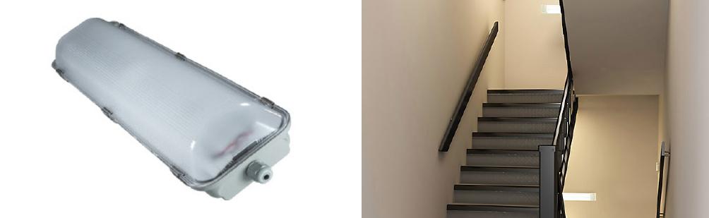 2 x 9 Watt LED Weatherproof Batten with Sensor