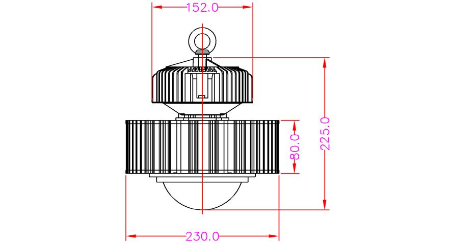 100 Watt LED High Bay Graphics 1