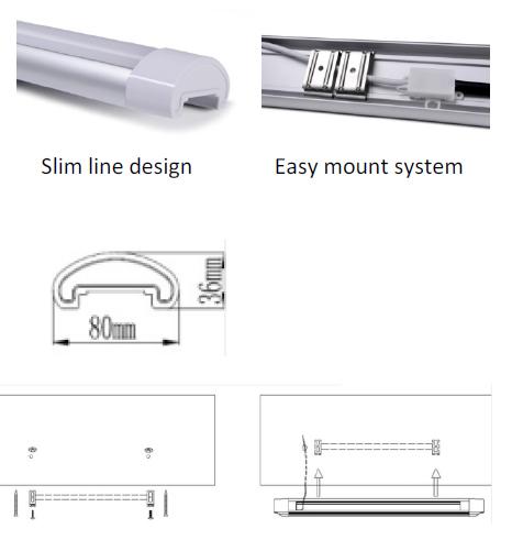 Pro Lamps Nsw Pty Ltd: 20 Watt LED Slimline Surface Mount Batten 600mm