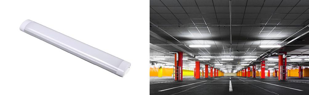10 Watt LED Slimline Surface Mount Batten Light - Undercover Carpark