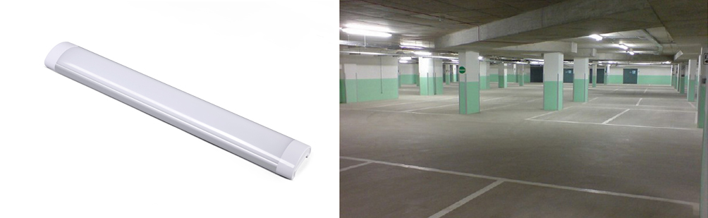 LED Slimline Surface Mount Batten Light on site
