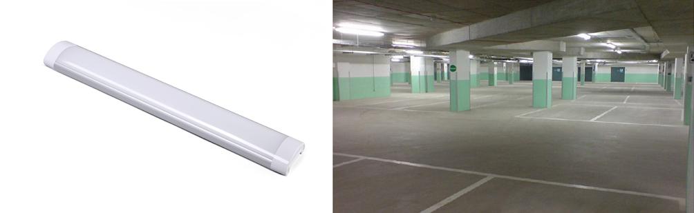 LED Slimline Surface Mount Batten Light on site