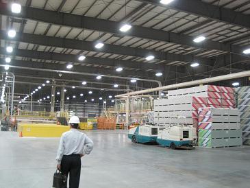 240 Watt LED Linear High Bay Light on Site
