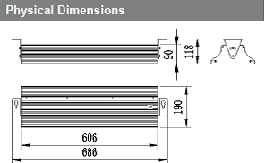 90-watt-linear-high-bay-physical-dimensions