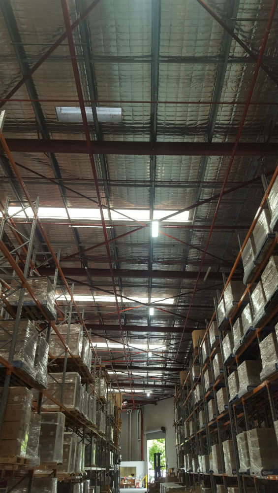 LED Lighting - Beckman Coulter Industrial Warehouse