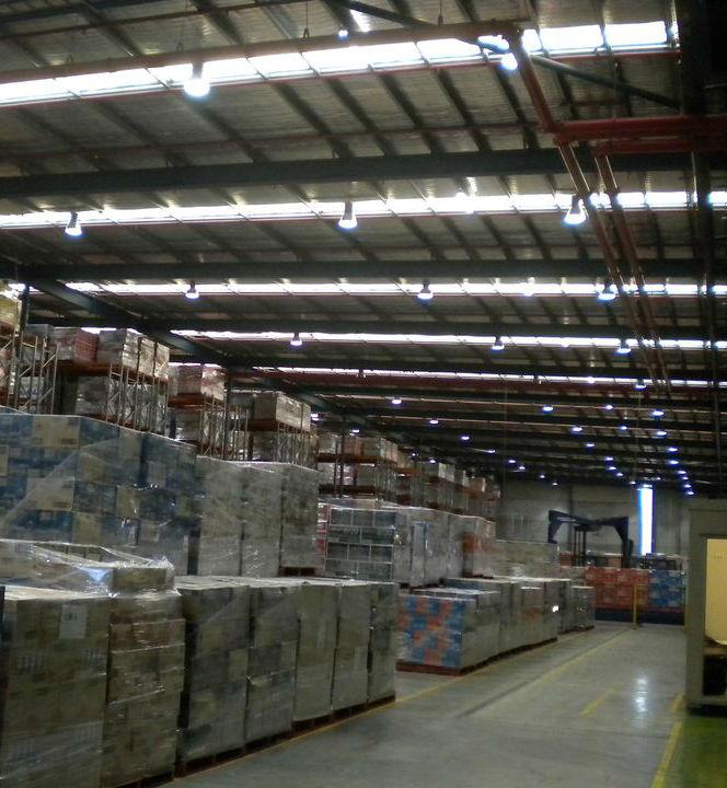 Snackbrands Smithfield warehouse facility - LED lighting upgrade high bays