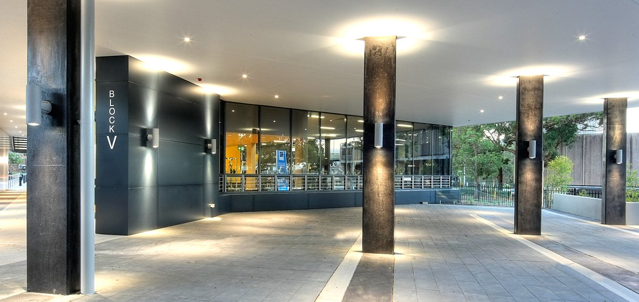 Northern Beaches TAFE campus - LED lighting outside building