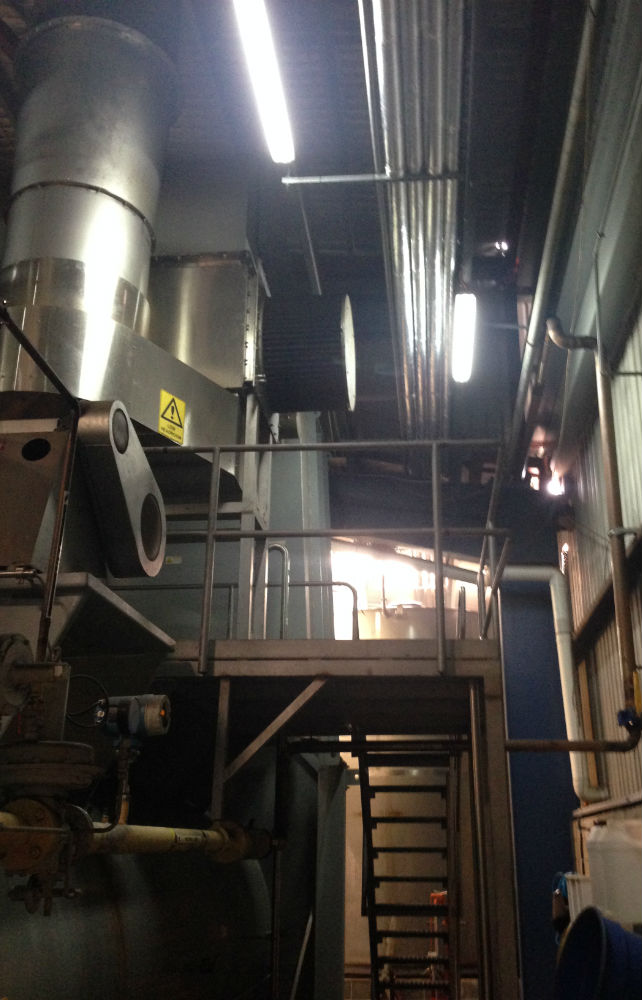 Snackbrands Blacktown LED lights in their production area