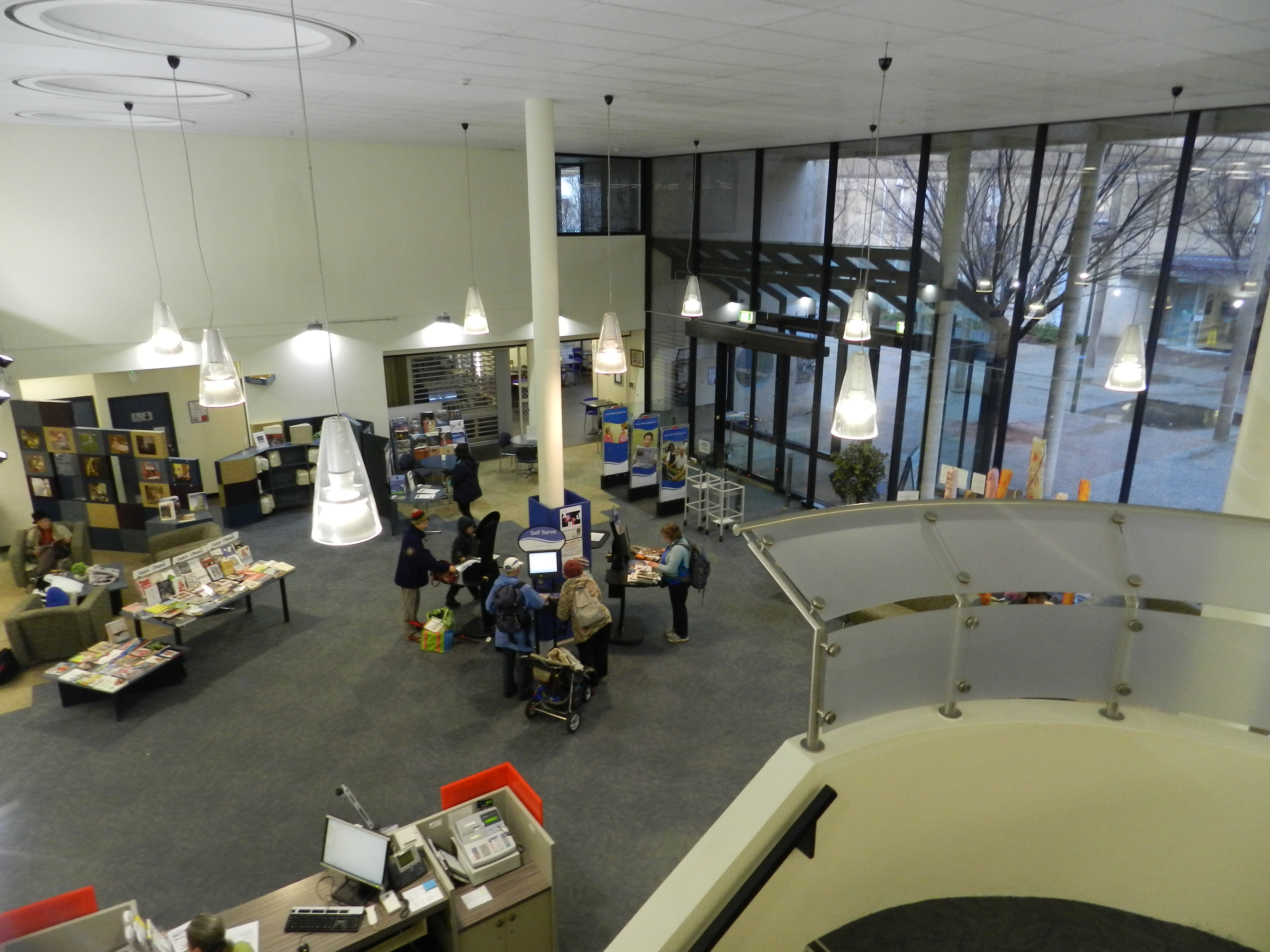 Woden Library ACT LED Lighting