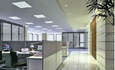 LED Panel Lighting in Office Space