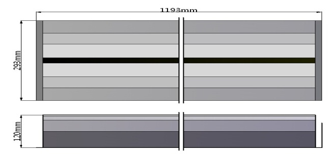 20 Watt LED Integrated Linear Troffer Graph 1