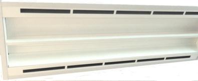 20 Watt LED Integrated Linear Troffer - optional air handling frame